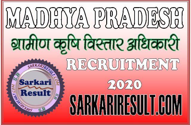 MP PEB Rural Agricultural Extension Officer Recruitment 2020